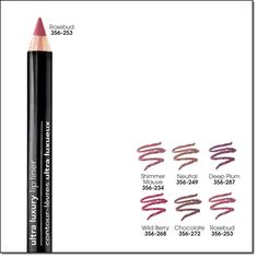 Ultra Luxury Lip Liner - Deep Plum --- Regular Price: $5.99 --- My Price: $2.00* *while supplies last Enhance your lips with a luscious burst of colour! Lining your lips makes them look fuller! Get precise, glide-on colour with this sensational no-tug pencil liner. It's easy to apply and provides great coverage for lips that make a special impact! 1.14 g