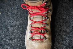 Beginner Basics: Corrective Boot Tying Having boot trouble on the trail? You might be able to save your day, and your feet, just by using these simple lacing solutions. Combine them as necessary to get the comfort you want. Hiking Tips, Camping And Hiking, Hiking Gear, Hiking Backpack, Outdoor Camping, Backpacking, Outdoor Gear, Hiking Boots, Camping Stuff