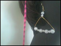 Great stocking stuffers TRIANGLE PEARL EARRINGS by Sibrina Creations on Etsy, $1.99