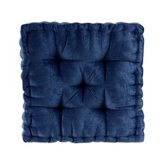 Shop Intelligent Designs Charvi Poly Chenille Square Floor Pillow Cushion - On Sale - Overstock - 21596131 Square Floor Pillows, Large Floor Pillows, Square Pouf, Floor Cushions, Chair Cushions, Intelligent Design, Sofa Bed Blue, Meditation Cushion, Pillow Reviews