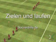 Zielen und laufen - Aufwärmen - Fußballtraining auf Soccerdrills.de - YouTube