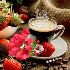 Coffee with love ❤️ Coffee Gif, Coffee Images, Coffee Love, Coffee Break, Coffee Cups, Good Morning Gift, Good Morning Coffee, Gif Café, Happy Weekend Images