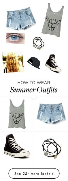"""Kira (from my story Future Tense)"" by jaiwaetfordluver on Polyvore featuring moda, Converse y Feather & Stone"