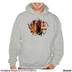 Firefighter Flames In The Hoody