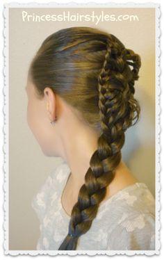 Stingray braid hair tutorial