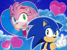 Sonic and Amy Rose Wallpaper by Kittykun123.deviantart.com on @DeviantArt