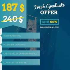 eye-catching and interesting RESUME. a COVER LETTER that helps you stand out from the crowd.  INTERVIEW COACHING session Create a Killer LINKEDIN PROFILE . SIGN UP TODAY at http://ift.tt/2aTE1Hu  CALL us at 71 76 17 17
