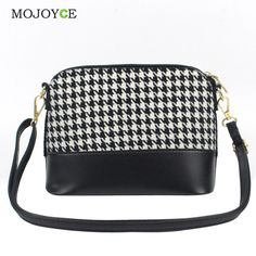 PU Leather Women Bag Fashion Embossed Women Messenger Bags Small Canvas Crossbody Handbag Shell Bag Plaid Bags Bolsa Feminina