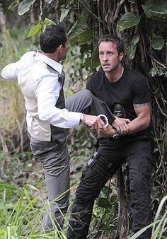 "Alex O'Loughlin and Mark Dacascos in Hawaii Five-0 from ""Ua Hopu"" ep 2.22"