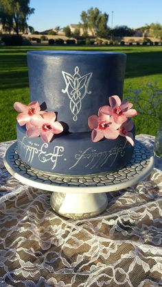 Lord of the Rings Wedding Cake #LOTR