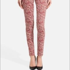 "✨HP✨The Limited Confetti 678 Jean Red Spots Chic slimming skinny jean designed in a colorful confetti print. Classic 5 pocket styling. Zip fly and button closure. Mid rise waist. Functional front and rear pockets. Rise: 8"". Inseam: about 30.5"". Cotton/spandex. Color: confetti print on white - mostly red spots, also navy and tan. Excellent condition. Retail: $80. Host Pick ""Flirty and Feminine"" 10/14/13. Pic c/o thelimited.com. The Limited Jeans Skinny"