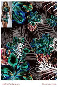 Estampa Digital 02 / Designer: Gabriella Laruccia // Projeto Final do Curso de Criação de Estampas Têxteis / Professor Daniel Moraes