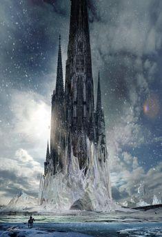 Torre Gótica  de hielo por   Alex Ruiz