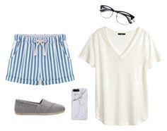 """""""Vertical Lines Outfit"""" by astrupp on Polyvore featuring H&M and TOMS"""