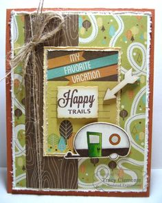August SOTM Happy Trails Card by Tracy Clemente #Cardmaking, #Stampofthemonth, http://tayloredexpressions.com/kits.html