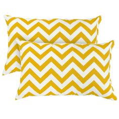 Greendale Home Fashions Rectangle Outdoor Accent Pillow (set of Zigzag Toss Pillows, Outdoor Throw Pillows, Accent Pillows, Decorative Throw Pillows, Outdoor Cushions, Indoor Outdoor, Outdoor Living, Outdoor Decor, Patio Furniture Cushions