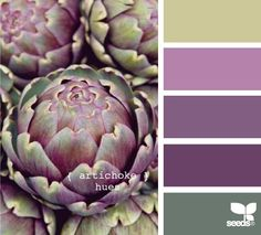 Artichokes hues for a paint scheme, beautiful!... Kind of a strange thing to model paint after but I love the colors!