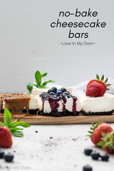 Skinny Cheesecake, No Bake Cheesecake, Cheesecake Desserts, No Bake Desserts, Easy Desserts, Delicious Desserts, Yummy Food, Trifle Pudding, Blueberry Desserts