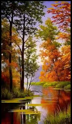 ideas for beautiful landscape paintings bob ross Fall Pictures, Pictures To Paint, Nature Pictures, Landscape Pictures, Watercolor Landscape, Landscape Art, Landscape Rocks, Landscape Fabric, Sunset Landscape