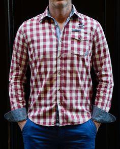 Chemise NZA à carreaux -30% : 75€  www.handson-shop.com