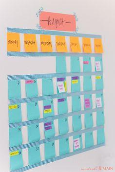 Washi Tape Calendar // Modish and Main