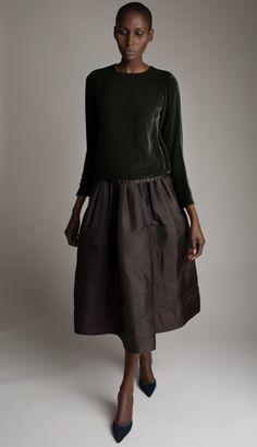 Yves Saint Laurent Velvet Blouse and Skirt Designer Vintage Fashion