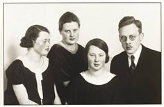 Sisters and Brother, 1924 by August Sander, (German 1876‑1964)