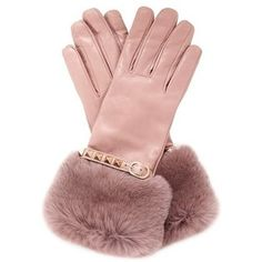 Valentino Pink Rabbit Fur Trimmed Cuff Rockstud Leather Gloves I would love a pair of these! Pink Rabbit, Rabbit Fur, Gants Roses, Vintage Gloves, Fabulous Furs, Everything Pink, Mitten Gloves, Mittens, Leather Gloves
