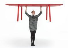 British designer Benjamin Hubert developed a more stable version of his lightweight Ripple table
