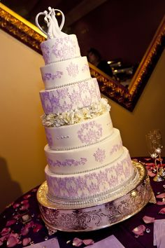 Indian Weddings Inspirations. Purple Wedding Cake. 6 Tier Wedding Cakes, Purple Wedding Cakes, Beautiful Wedding Cakes, Cupcake Cakes, Cupcakes, Indian Weddings, Event Photography, Cakes And More, Cake Art