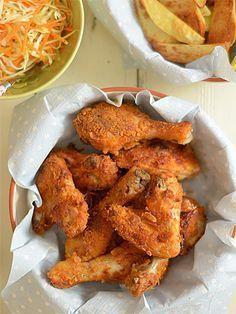 Kurczak w pikantnej panierce - pieczony, a nie smażony (wcześniej marynowany w maślance) - etap 8