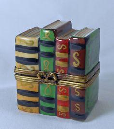 Vintage Limoges Peint Main LaGloriette History of France Trinket Box