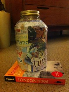 DIY travel savings jar