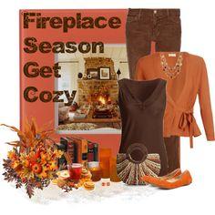 Fireplace Season, created by jenn7375 on Polyvore