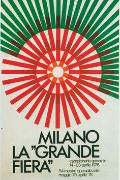 1976, manifesto ufficiale della Fiera Campionaria di Milano, Studio CBC.