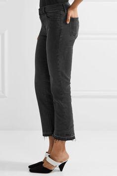 J Brand - Selena Cropped Mid-rise Flared Jeans - Black