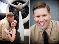 Vintage Pin Up Aviator Engagement Shoot | Bridal Musings