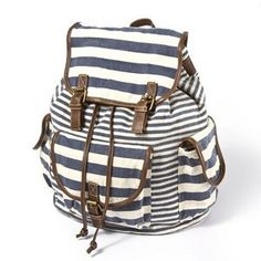 backpacks from claire's   shop bags backpacks mixed stripe canvas backpack claire s $ 28 claires ...
