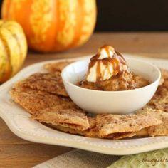 Paleo Pumpkin Pie Dessert Nachos. Grain free and low carb version.