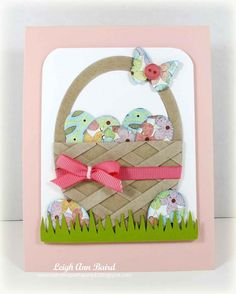 Paper Chase: Easter basket card