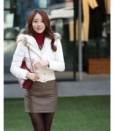 Cheap Women Down Jacket Coat - Best Women Down Jacket Coat2014 New Korean Short Paragraph Coat Real Fur Hooded Winter Coat Online with $25.14/Piece | DHgate