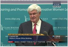 Newt Gingrich Conservative Leadership Seminar