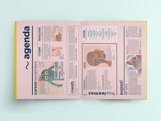 Revista Gluck on Editorial Design Served Page Layout Design, Graphic Design Layouts, Book Layout, Graphic Design Posters, Graphic Design Typography, Editorial Design Magazine, Magazine Layout Design, Newsletter Design, Newspaper Design
