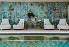 Dining Room Colors, Dining Room Walls, Dining Room Furniture, Living Room Decor, Crillon Paris, Paris Hotels, Hotel Paris, Venice Hotel, Mirror Tv