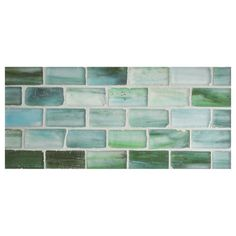 "Complete Tile Collection Zumi Glass Mosaic - Sapphire Oasis - Silk, 1"" x 2"" Brick Recycled Glass Mosaic, MI#: 038-G2-263-156, Color: Sapphire Oasis"