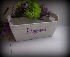 Rustic Wedding Program Box