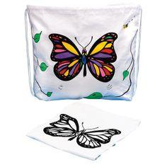 Drawstring Bag with Velvet Art Butterfly