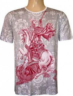 Camiseta São Jorge Oração Camiseta Indiana 4a4008d7221ac