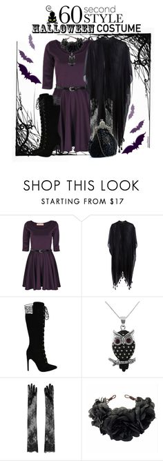 """""""Witch - 60 Second Style: Last minute Halloween Costume"""" by ana3blue ❤ liked on Polyvore featuring Burton, Pieces, Jewel Exclusive, N°21 and Rock 'N Rose"""