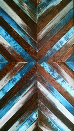 Created by hand, this reclaimed wood wall art has been intricately designed to accentuate a symmetrical pattern, and is perfect for any niche in your home. Ethos Woodworks crafts each piece by hand, and values the slight variations of wood grain; the grain of the wood may vary a little